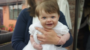 Isla on her Christening day.